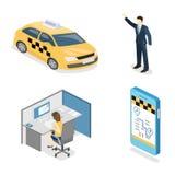 等量平的3D隔绝了概念出租汽车运输业务 向量例证