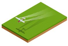 等量庄稼喷粉器应用化学制品于植被的领域 也corel凹道例证向量 向量例证