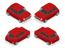 等量微型汽车模型特写镜头 免版税库存照片