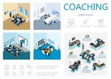 等量教练的Infographic概念 皇族释放例证