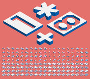 等量数字和标点符号 免版税图库摄影