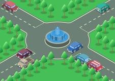 等量环形交通枢纽路 图库摄影
