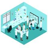 等量生命科学实验室模板 库存图片