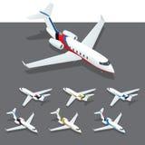 等量私人喷气式飞机 免版税图库摄影
