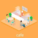等量空的咖啡馆 免版税库存照片