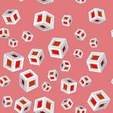 等量立方体seamles样式659 向量例证