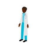 等量美国黑人的女性医生 库存照片