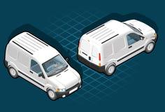 等量装货有篷货车 向量例证