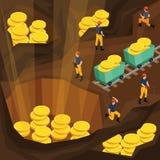 等量采矿业概念 图库摄影