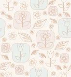 等高郁金香花和叶子 免版税库存照片