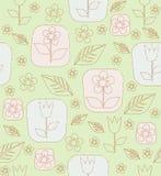 等高郁金香花和叶子 免版税库存图片