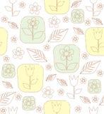 等高郁金香花和叶子 库存图片