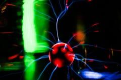 等离子球 气体放电灯 免版税库存图片