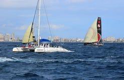 筏和Scallywag富豪集团海洋种族阿利坎特2017年 免版税库存照片