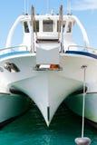 筏的正面图 免版税库存照片