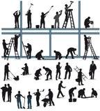 建筑业的工作者 图库摄影