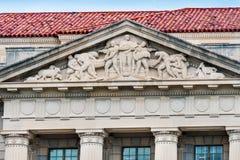 建筑业雕象商务部华盛顿特区 免版税库存照片