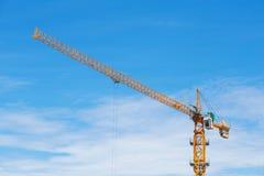建筑业建筑用起重机  免版税库存照片