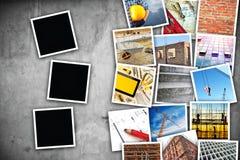 建筑业主题的照片拼贴画 库存图片