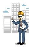 建筑人工程师事务 免版税库存照片