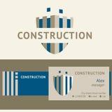 建筑公司的商标和证明 库存照片