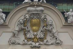 建筑关闭门面od Schloss眺望楼在维也纳 库存照片