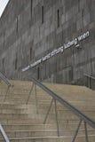 建筑关闭Mumok博物馆门面和楼梯在维也纳 库存图片