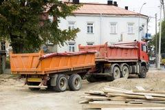 建筑卡车 库存照片