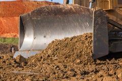 建筑地球搬家工人机器桶特写镜头 图库摄影