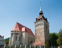 筑堡垒于的教会 库存照片