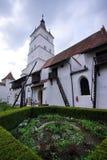 筑堡垒于的教会 免版税库存照片