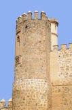 筑堡垒于的西班牙托莱多塔 免版税库存图片
