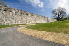 筑堡垒于的魁北克墙壁 免版税库存图片