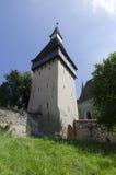 筑堡垒于的biertan教会 库存图片