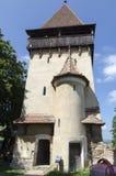 筑堡垒于的biertan教会 免版税图库摄影