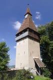 筑堡垒于的biertan教会 免版税库存照片