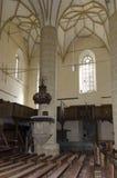 筑堡垒于的biertan教会 免版税库存图片
