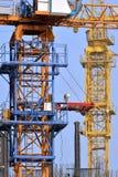 建筑塔吊 免版税库存图片