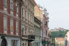 建筑大厦在布拉索夫,特兰西瓦尼亚,罗马尼亚 免版税库存图片