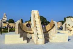 建筑天文学仪器在Jantar Mantar观测所 免版税库存图片