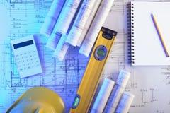 建筑学和承包商概念 库存照片