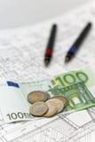 建筑学和欧元 免版税图库摄影