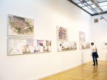 建筑学和设计的第19国际陈列 免版税库存图片