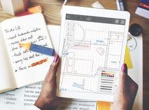 建筑学图纸设计工程结构概念 免版税图库摄影