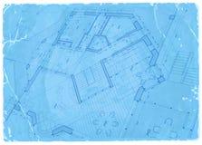 建筑学图纸-房子计划 库存例证
