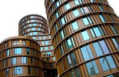 建筑学在哥本哈根-花样滑冰外一周半跳塔 免版税库存照片