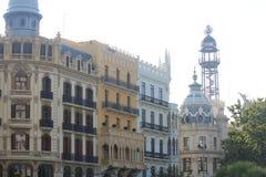 建筑学在大广场在巴伦西亚 免版税图库摄影