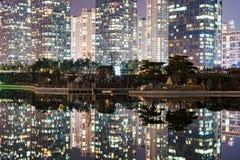 建筑学在晚上 免版税图库摄影
