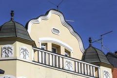 建筑学在温科夫齐,细节门面 免版税库存图片