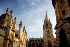 建筑学在牛津 库存照片